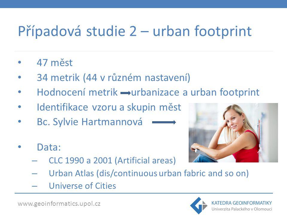 www.geoinformatics.upol.cz Urban footprint