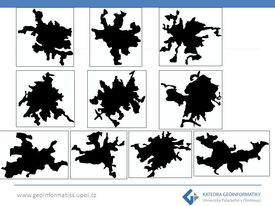 Fractal Dimension Index – Brno (1,179) – Hradec Králové (1,175) VÝSLEDKY CLC 1990 – Pardubice (1,129 ) – Liberec (1,130)