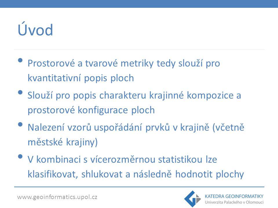 www.geoinformatics.upol.cz Úvod Analýza vhodnosti ploch pro různé účely Kompaktnost tzv.