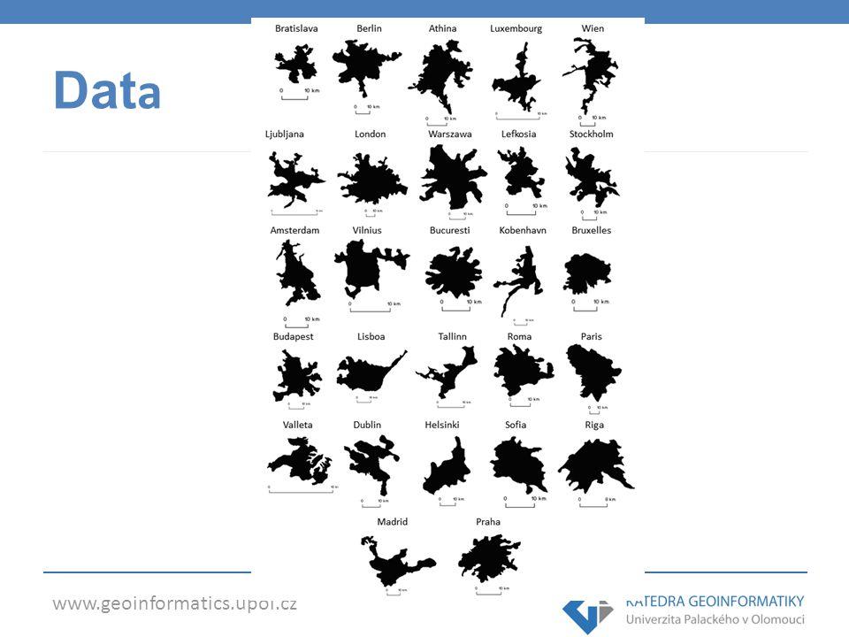 www.geoinformatics.upol.cz Data
