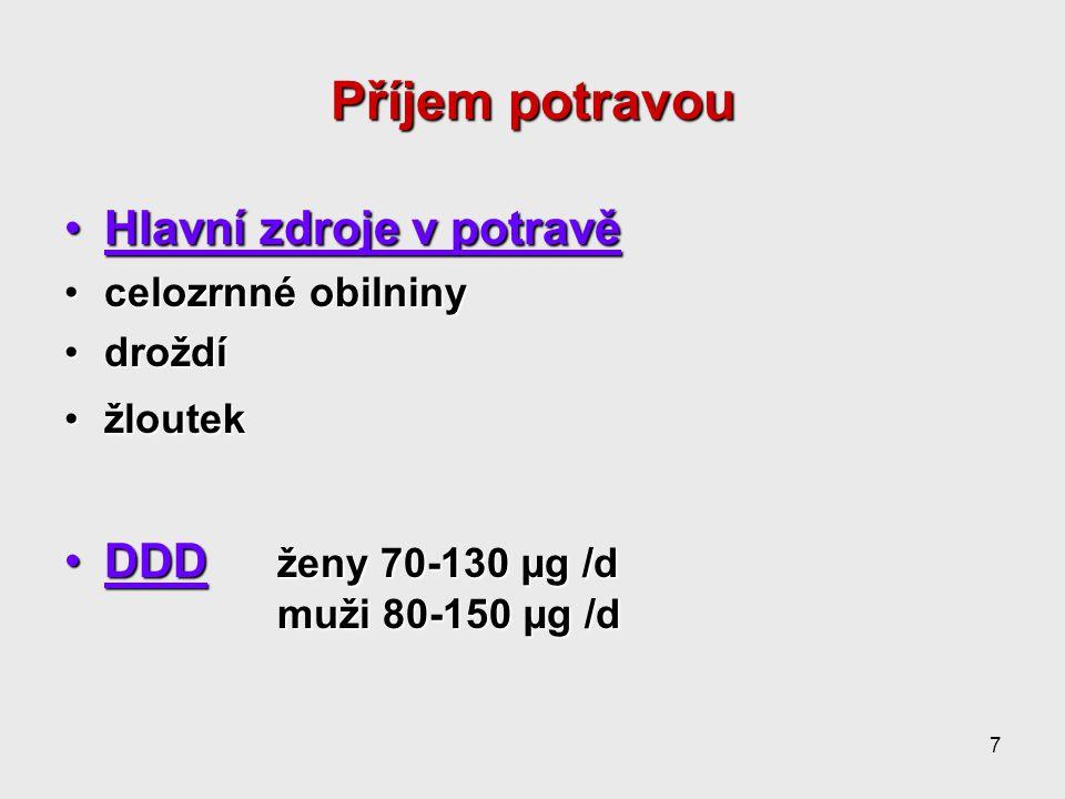 8 Deficit hyperglykemie refrakterní na inzulinhyperglykemie refrakterní na inzulin glykosurieglykosurie periferní neuropatieperiferní neuropatie hyperlipidemiehyperlipidemie zjišťuje se nepřímo úpravou metabolických poruch po suplementaci Cr IIIzjišťuje se nepřímo úpravou metabolických poruch po suplementaci Cr III