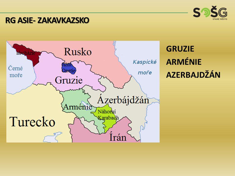 GRUZIE ARMÉNIE AZERBAJDŽÁN RG ASIE- ZAKAVKAZSKO