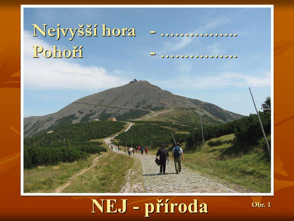 NEJ - příroda Nejvyšší hora - ……………. Pohoří- ……………. Obr. 1