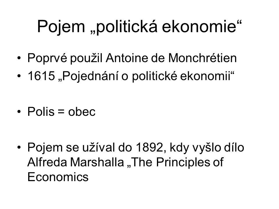"""Koncepce člověka Homo oeconomicus aktér usiluje o maximalizaci užitku pro sebe pojem poprvé ekonom a sociolog Vilfredo Pareto v """"Manual of political economy (1906) Člověk společenský"""