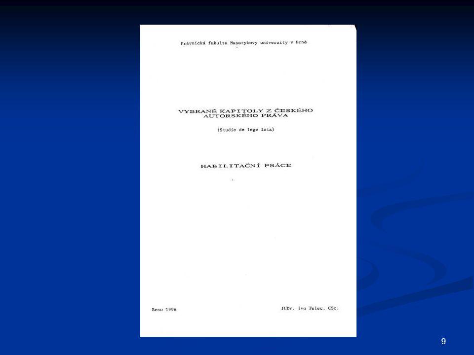 40 KNIHOVNÍ ZÁKONNÁ LICENCE Bezúplatná zákonná licence knihovní Bezúplatná zákonná licence knihovní k půjčování originálů či rozmnoženin k půjčování originálů či rozmnoženin obhájených diplomových, rigorózních, obhájených diplomových, rigorózních, disertačních a habilitačních prací disertačních a habilitačních prací na místě samém § 37/1d a.