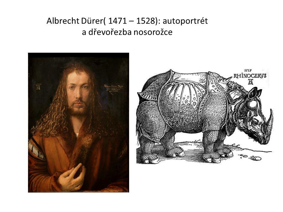 Albrecht Dürer( 1471 – 1528): autoportrét a dřevořezba nosorožce