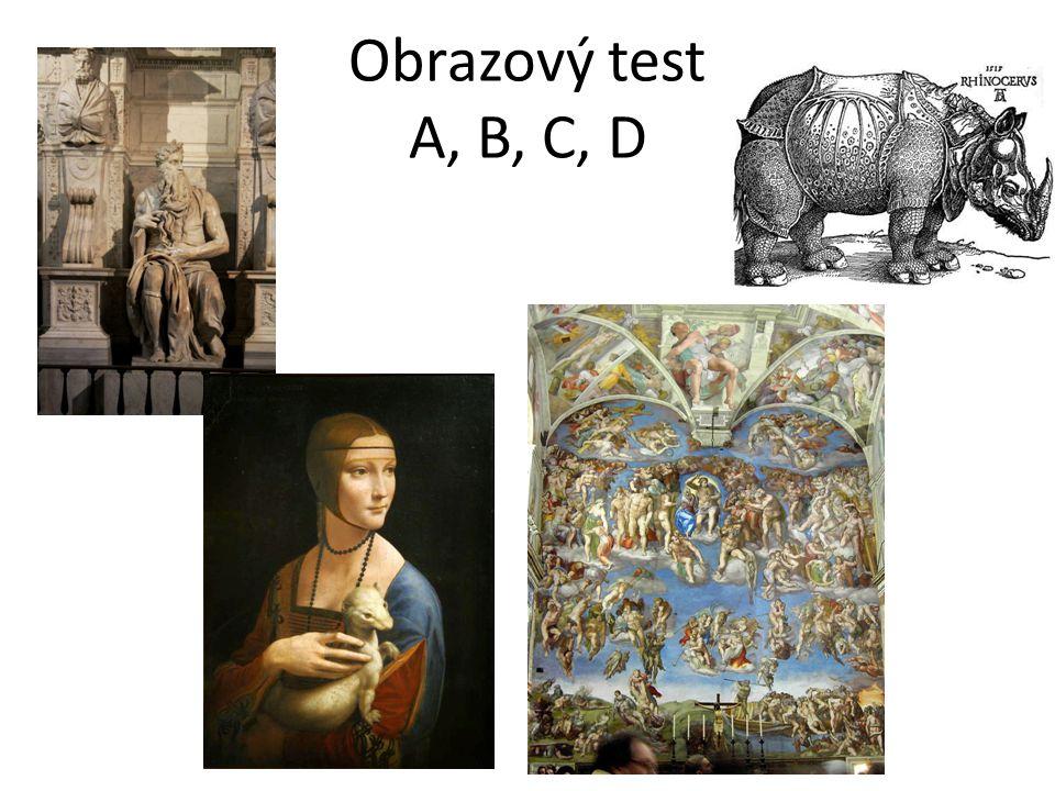 Obrazový test A, B, C, D