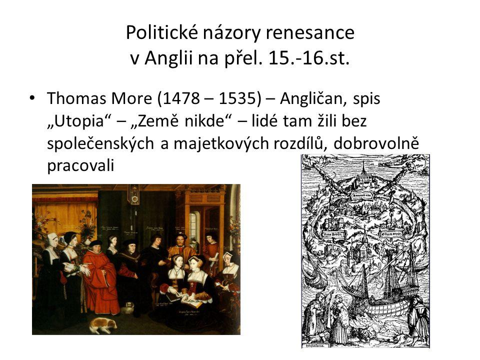 Politické názory renesance v Anglii na přel. 15.-16.st.