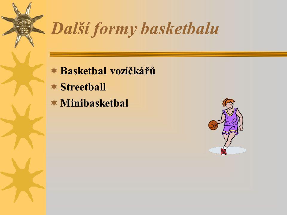 Další formy basketbalu  Basketbal vozíčkářů  Streetball  Minibasketbal