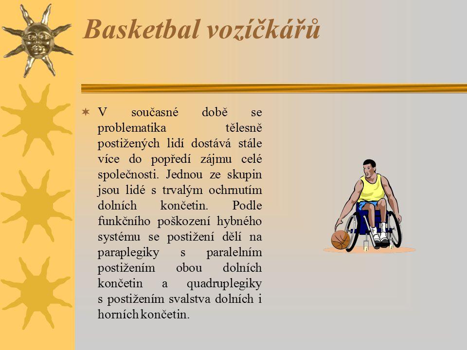 Ve světě Celosvětově je právě basketbal vozíčkářů nejrozšířenějším ze všech sportů, kterými se postižení zabývají.
