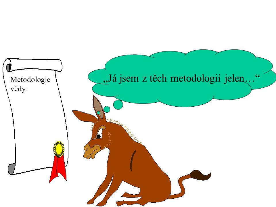 """""""Já jsem z těch metodologií jelen…"""" Metodologie vědy:"""