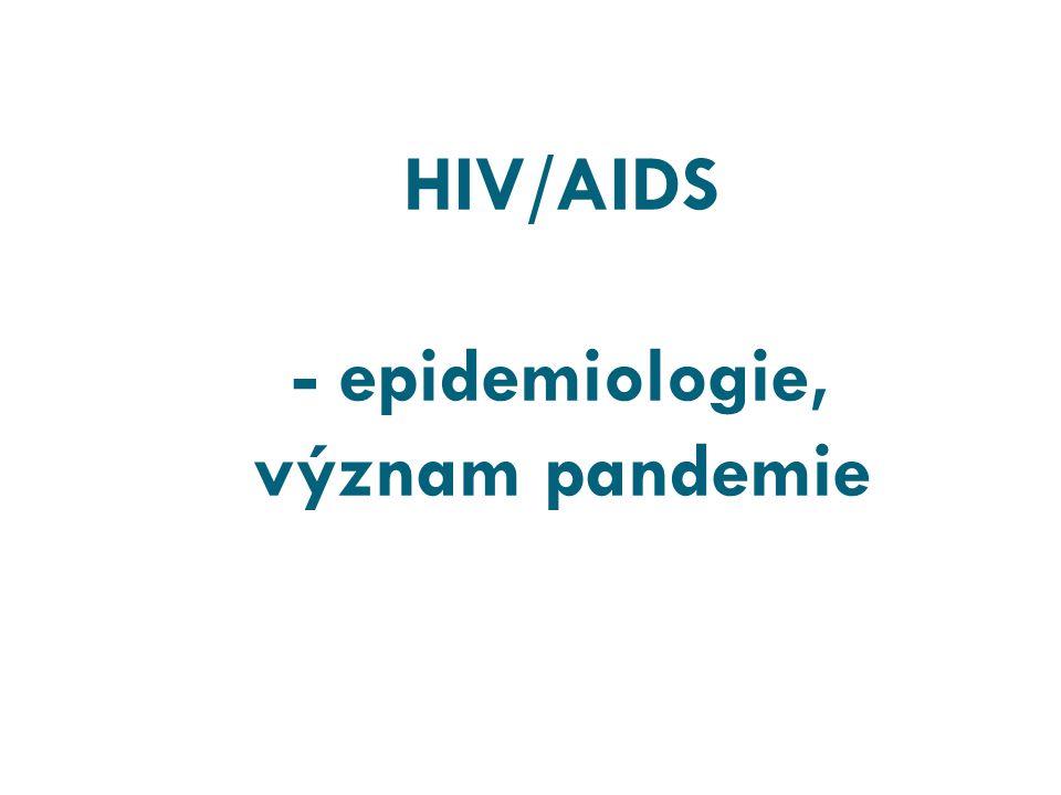 HIV/AIDS - epidemiologie, význam pandemie
