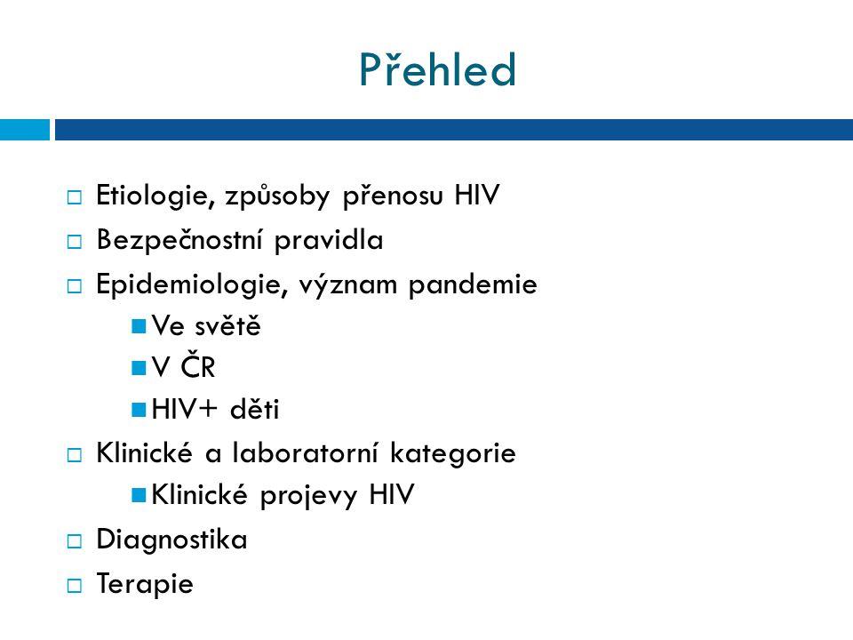 Klasifikace HIV infekce podle CDC r.