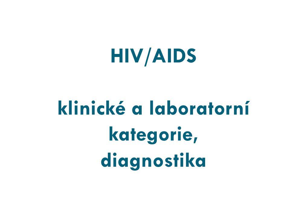 HIV/AIDS klinické a laboratorní kategorie, diagnostika
