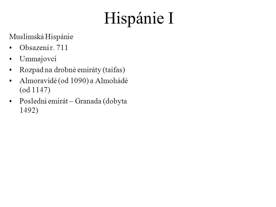 Hispánie I Muslimská Hispánie Obsazení r.