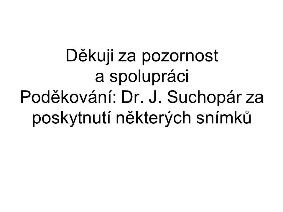 Děkuji za pozornost a spolupráci Poděkování: Dr. J. Suchopár za poskytnutí některých snímků