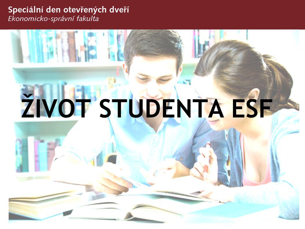 Studium na ESF/MU  Školní rok má 2 semestry: podzimní a jarní  Semestr trvá 13 týdnů - pouze výuka, bez zkoušek  Následně je zkouškové období – žádná výuka, pouze zkoušky  Zkoušky jsou za kredity – minimum na postup do dalšího semestru je 20 kreditů  Kreditový systém umožňuje vlastní studijní strategii  Nezvoní se a nenosí se přezůvky