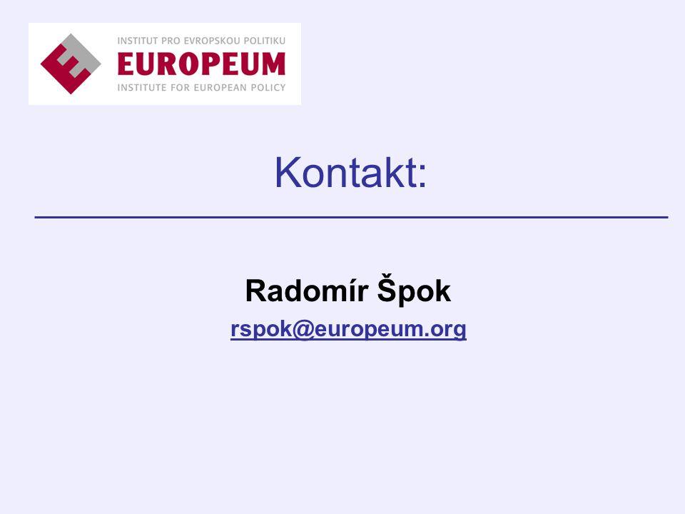 Kontakt: Radomír Špok rspok@europeum.org