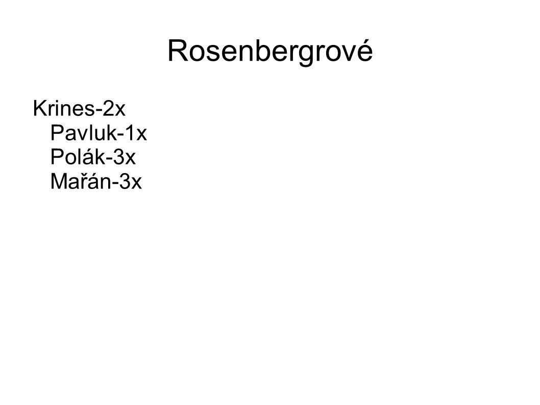 Rosenbergrové Krines-2x Pavluk-1x Polák-3x Mařán-3x