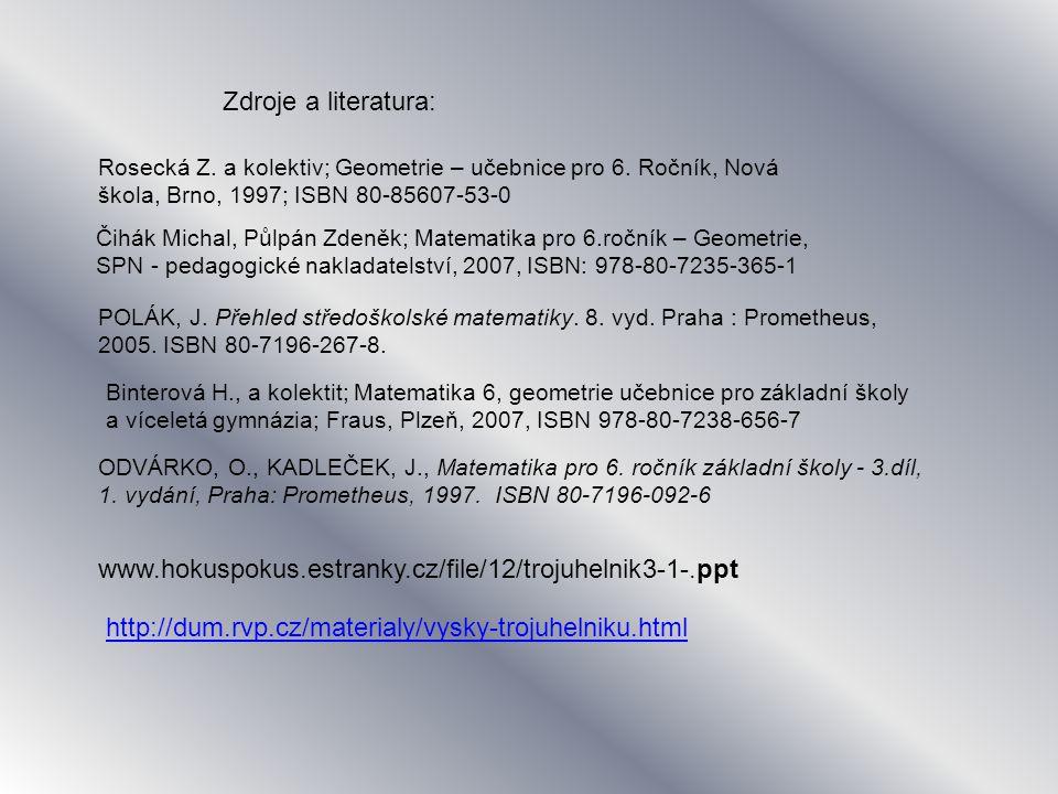 POLÁK, J.Přehled středoškolské matematiky. 8. vyd.