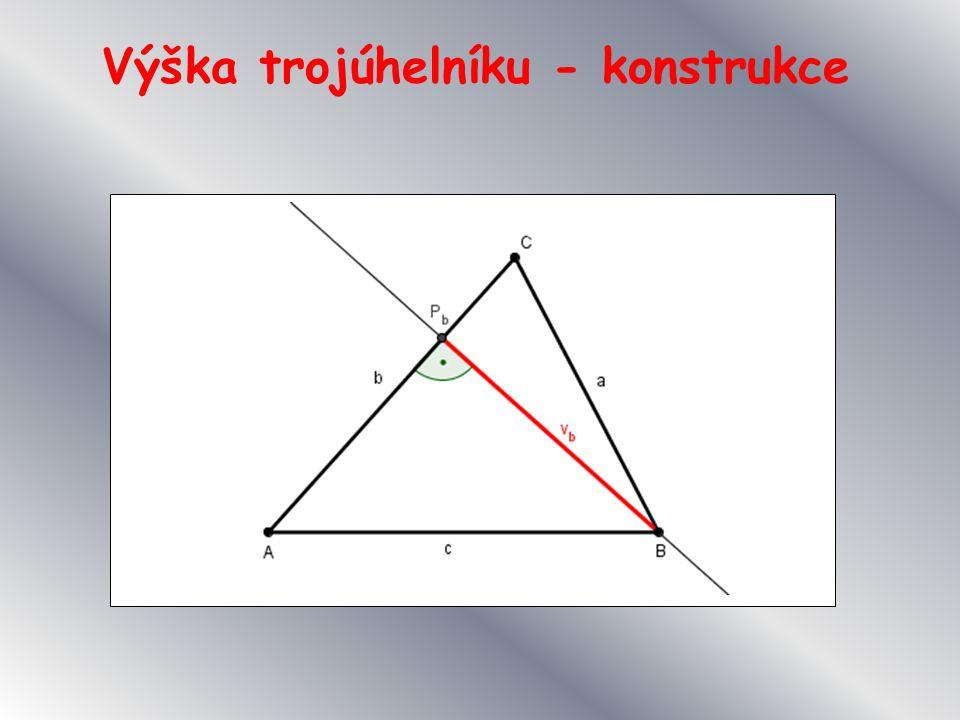 Výška trojúhelníku - konstrukce