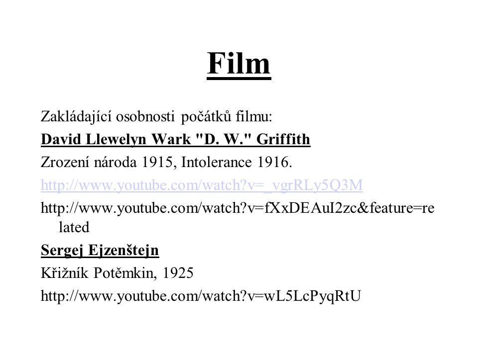 Film Zakládající osobnosti počátků filmu: David Llewelyn Wark D.