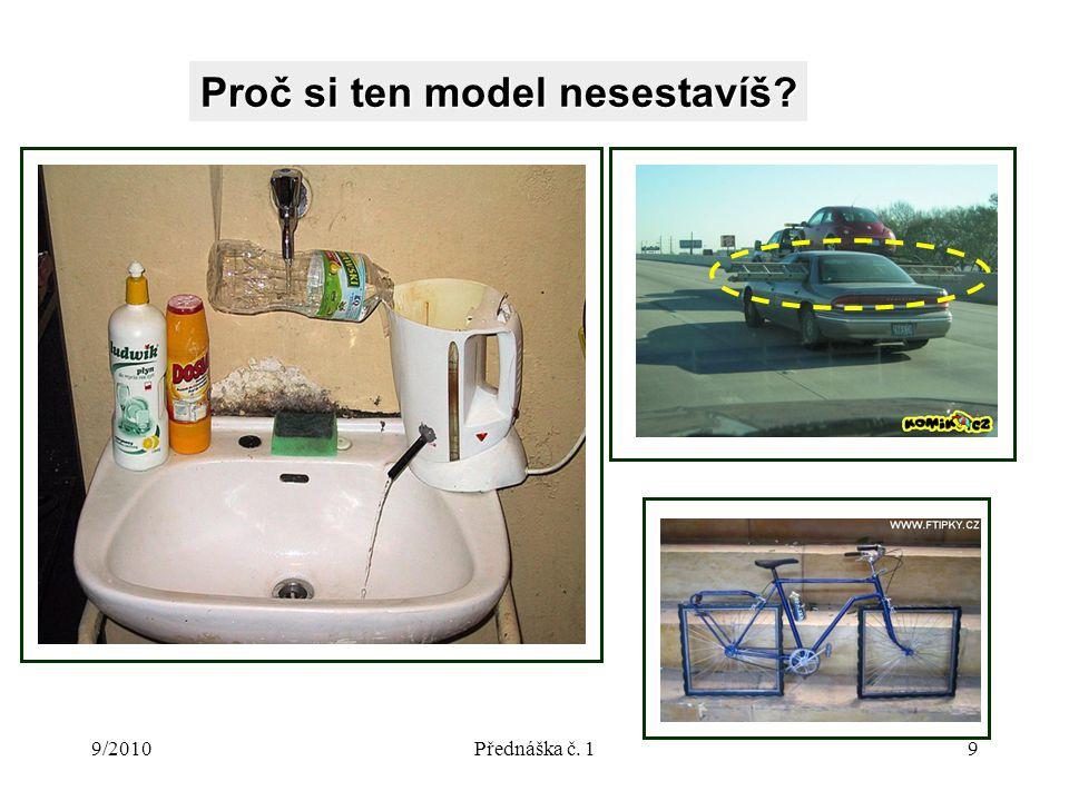9/2010Přednáška č. 19 Proč si ten model nesestavíš