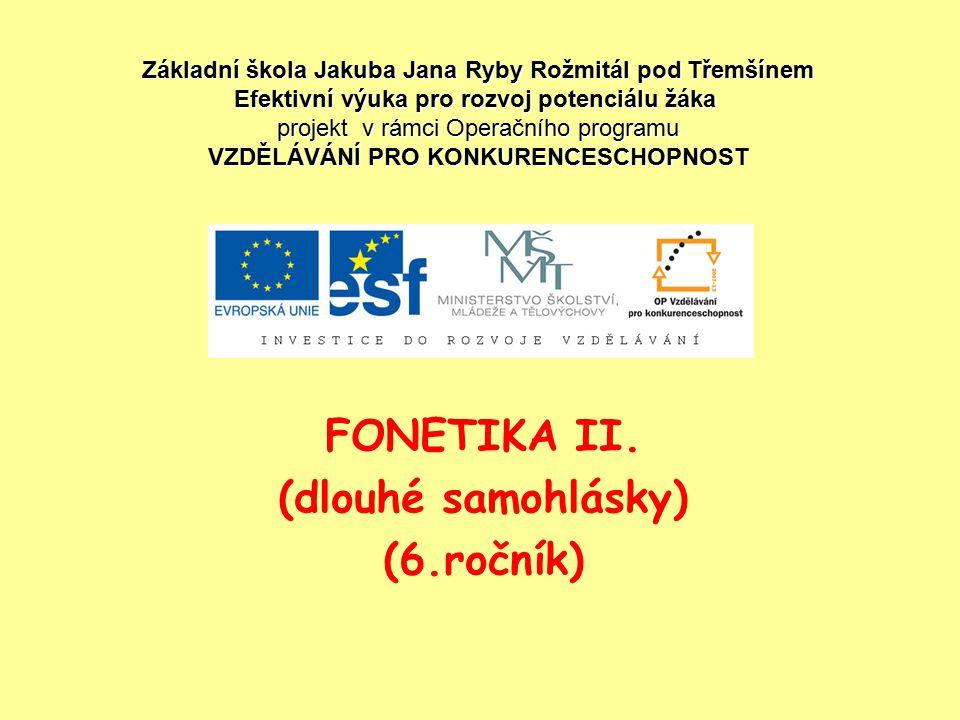 FONETIKA II.