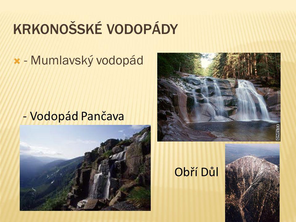 KRKONOŠSKÉ VODOPÁDY  - Mumlavský vodopád - Vodopád Pančava Obří Důl