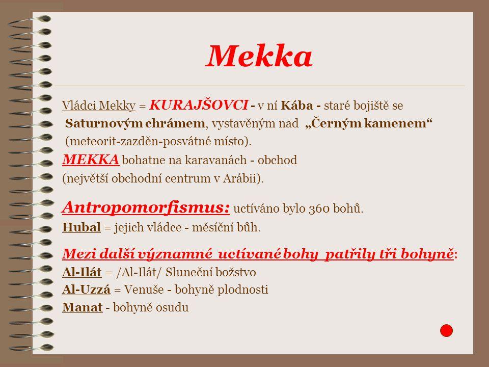 """Mekka Vládci Mekky = KURAJŠOVCI - v ní Kába - staré bojiště se Saturnovým chrámem, vystavěným nad """"Černým kamenem (meteorit-zazděn-posvátné místo)."""