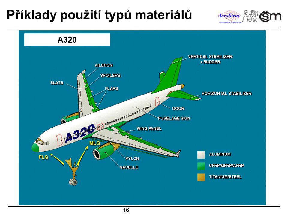 16 Příklady použití typů materiálů A320