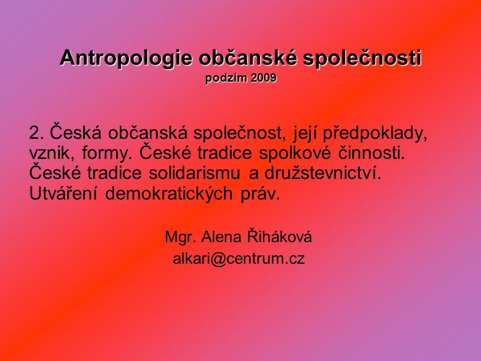 Antropologie občanské společnosti podzim 2009 2.