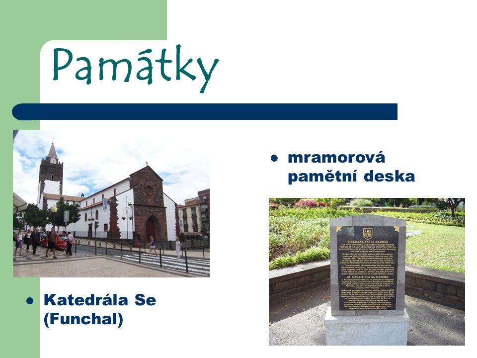 Památky Katedrála Se (Funchal) mramorová pamětní deska
