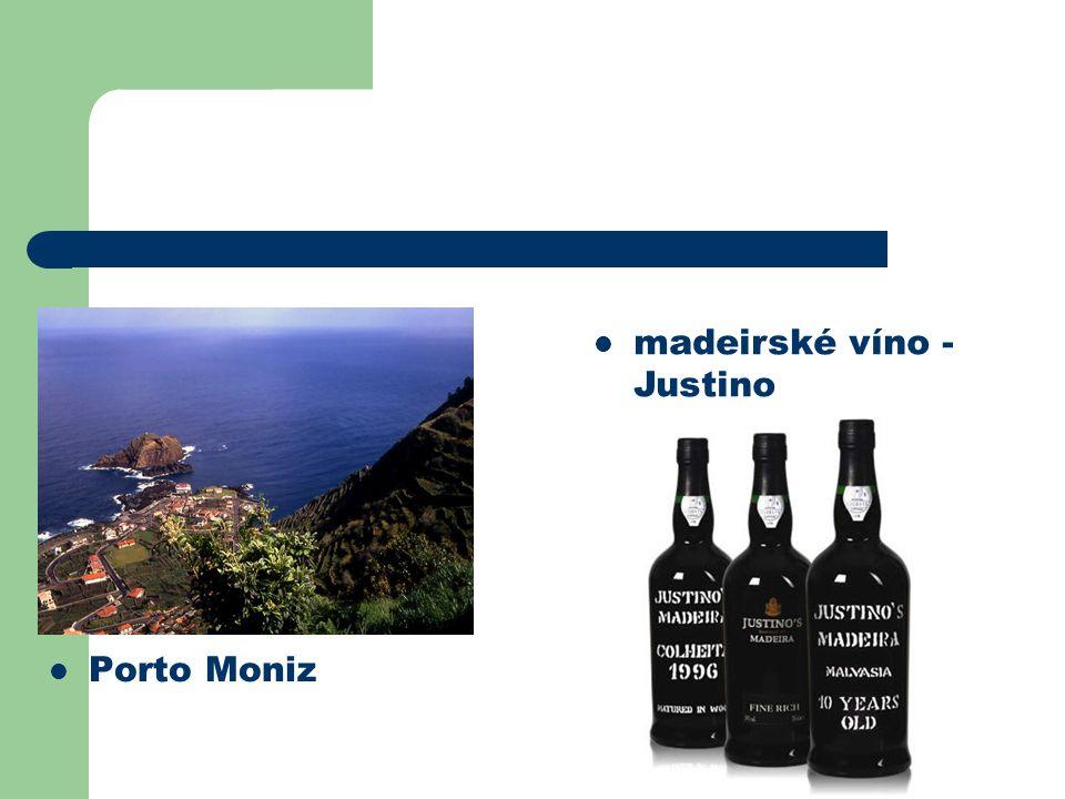 Porto Moniz madeirské víno - Justino