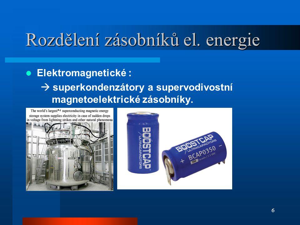 Parametry baterií použitých v SMEPC Baterie na bázi LiFePO 4 –nabíjecí cyklus až 2000× –dobrá tepelná odolnost Nikl-vodíkové baterie –stálá struktura –neobsahují škodlivé látky (Pb, Cr, Hg) –minimální údržba 7