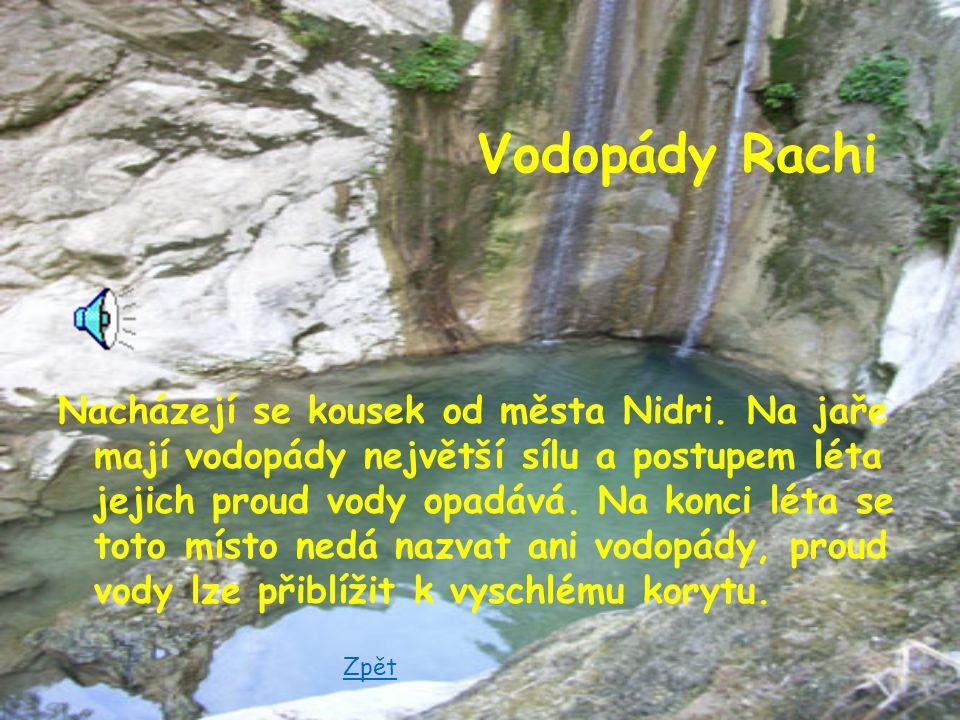 Zajímavá místa Vodopády Rachi Mys Doukatos Agios Donatos Vrchol Agios Lllias Zpět