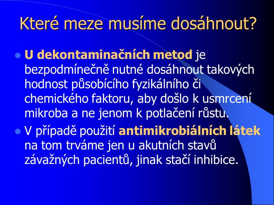 Desinfekce – příklady 1 A.