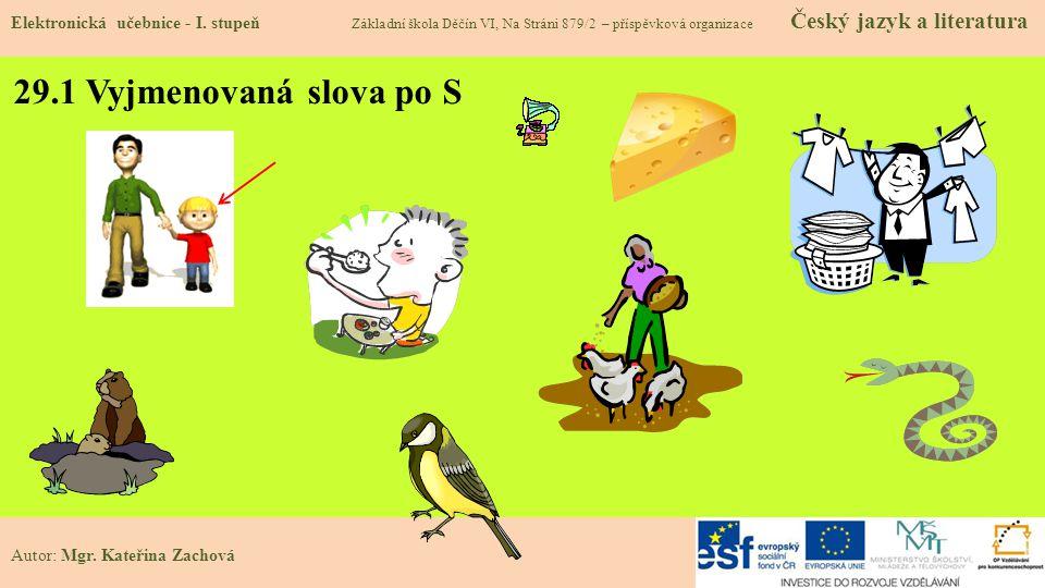 29.1 Vyjmenovaná slova po S Elektronická učebnice - I.