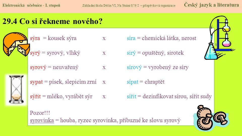 29.4 Co si řekneme nového.Elektronická učebnice - I.