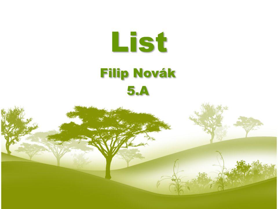 List Filip Novák 5.A Filip Novák 5.A