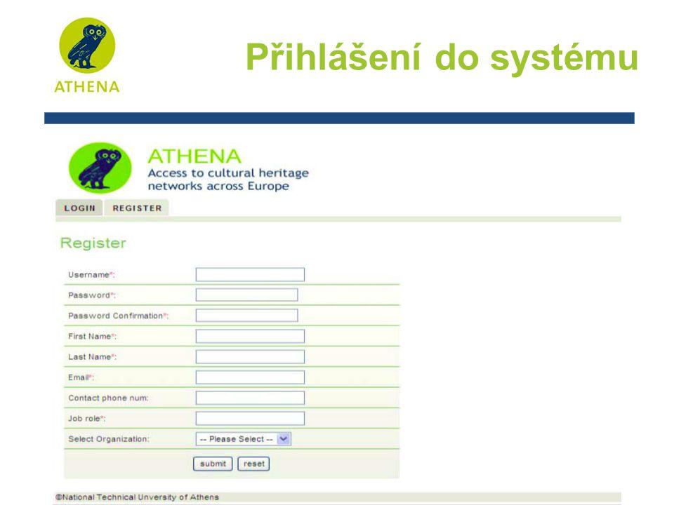Přihlášení do systému