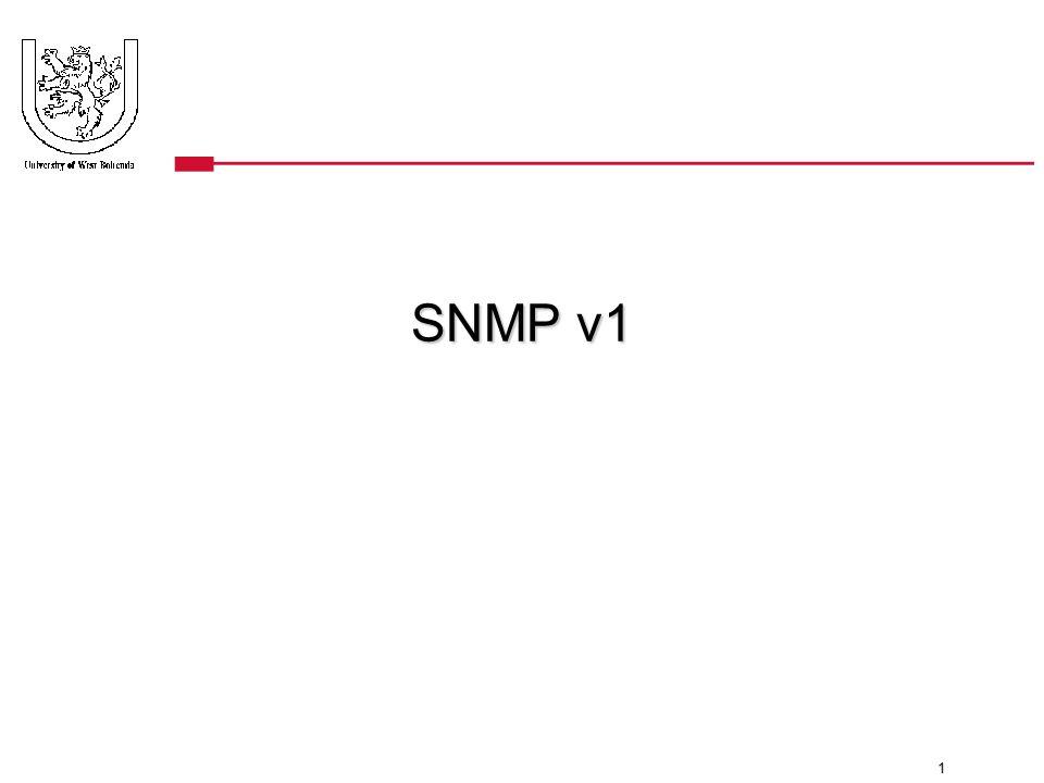 1 SNMP v1
