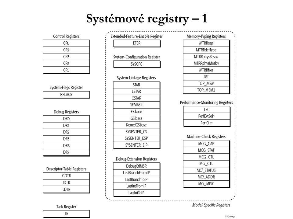 Systémové registry – 1
