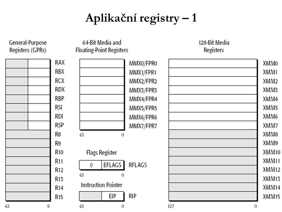 Aplikační registry – 1