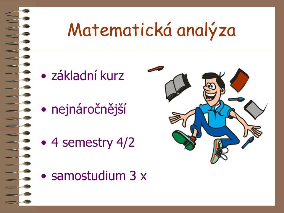 Základy matematiky Matematická analýza 2 kurz distančního vzdělávání na MFF UK Prof. RNDr. Miroslav Hušek, DrSc. Doc. RNDr. Pavel Pyrih, CSc. KMA