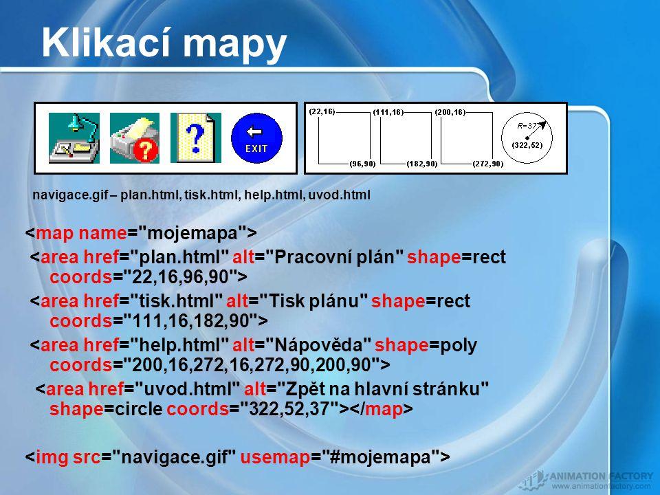 Klikací mapy navigace.gif – plan.html, tisk.html, help.html, uvod.html