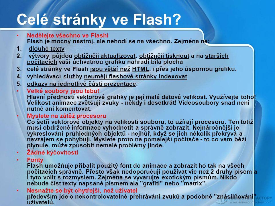 Celé stránky ve Flash.