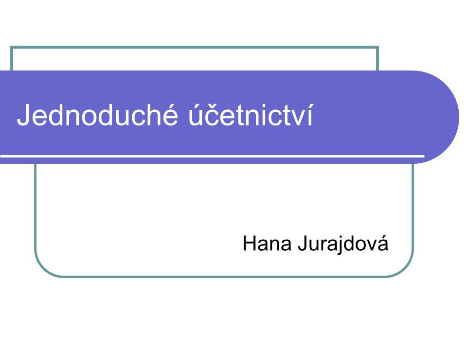 Jednoduché účetnictví Hana Jurajdová