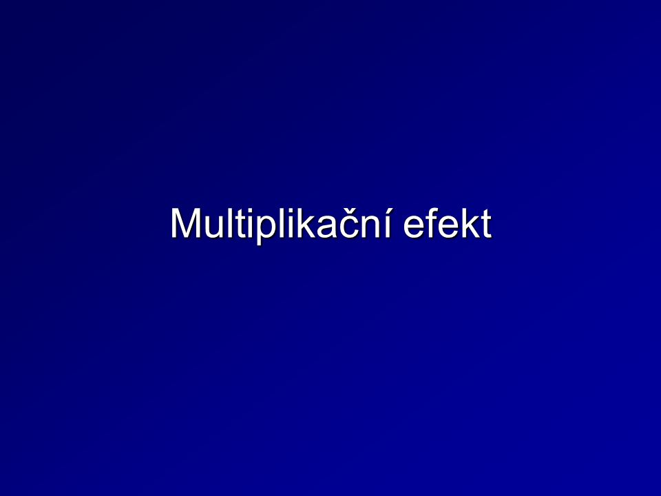 Multiplikační efekt