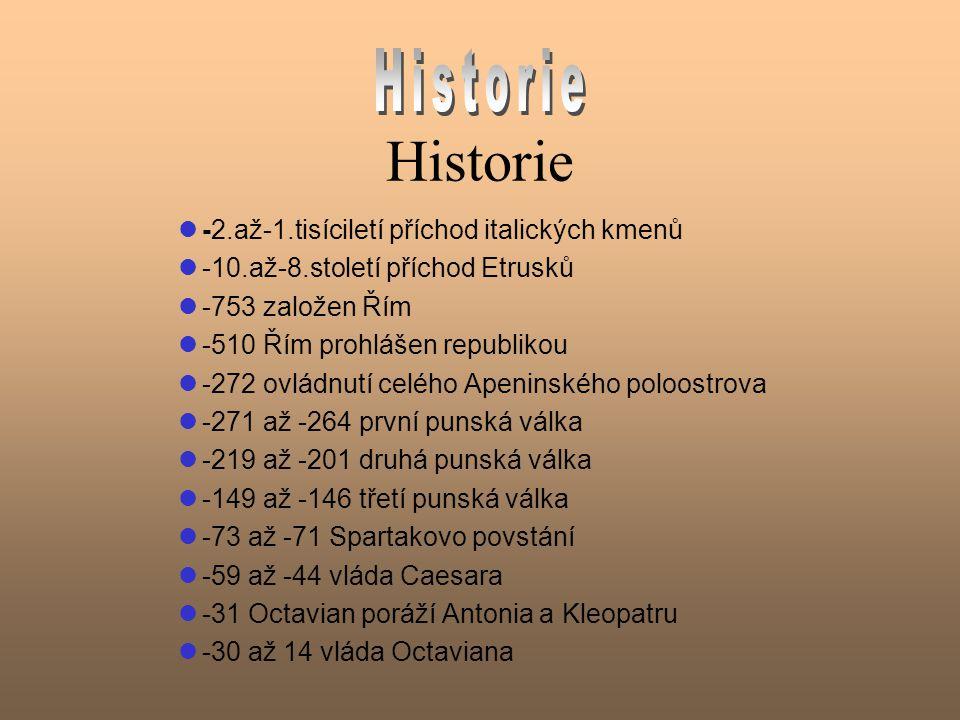 Úvod Název: Itálie Rozloha: 301 278km 2 Počet obyvatel: 57 221 415 (údaj z roku 2001) Hl.město: Řím (3 milióny obyvatel) Měna: do roku 2002 to byla italská Lira, nyní Euro (1 Euro=936 ITL) Jazyk: italština Náboženství: římské katolictví (100%) Nejvyšší hora: Monte Bianco Sousedské země: Slovinsko, Rakousko, Švýcarsko, Francie Nejdelší řeka: Pád (dlouhý 652 km)